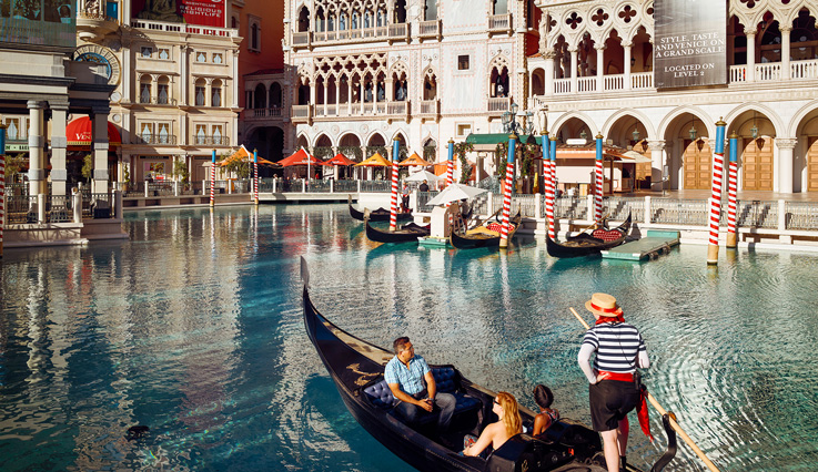 The Venetian's Grand Canal gondola rides in Vegas