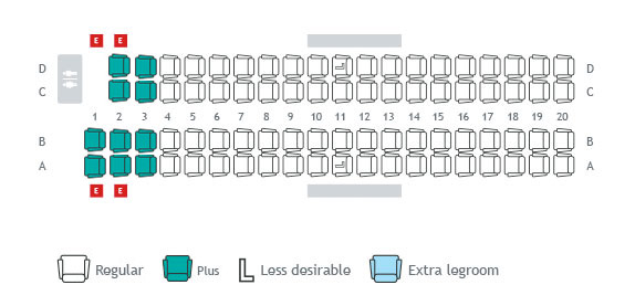 Seat maps seat selection travel info westjet for Interieur avion ryanair