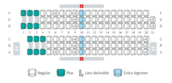 Seat Maps Seat Selection Travel Info Westjet