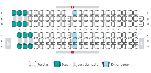 Seat maps seat selection travel info westjet for Avion jetairfly interieur