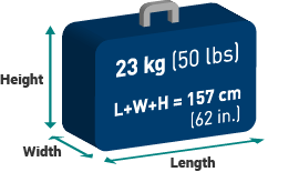 Baggage allowance, size, weight limits - Travel info | WestJet