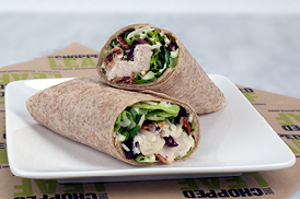 Chopped Leaf Chicken Wrap