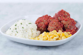 Kids' marinara meatballs