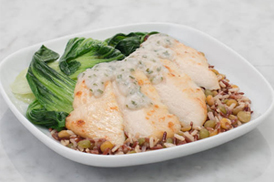 Coconut basil chicken $17.49