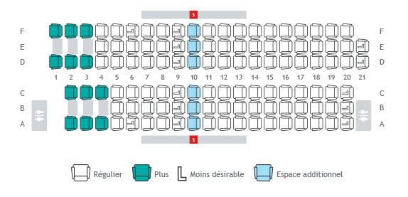 Plans de cabine s lection de si ge info voyage westjet for Plans de cabine gratuits