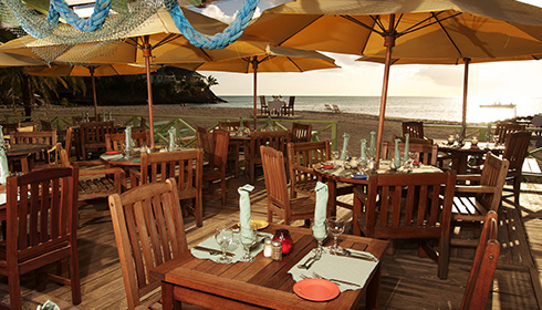 Lydias Beachfront dining