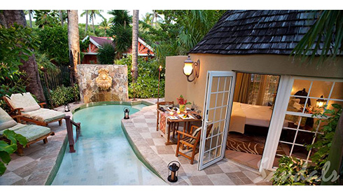 Caribbean Honeymoom Butler Rondoval with private pool (RP)