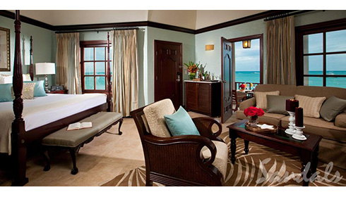 Caribbean Honeymoon Beachfront Butler Suite (OHS)