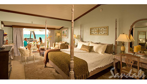 Caribbean Honeymoon Beachfront Grande Luxe Club Level Room (HGB)