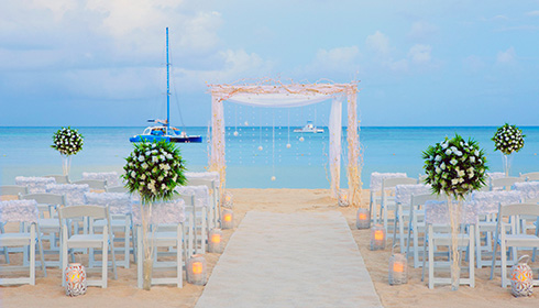 Wedding Setup at the Beach