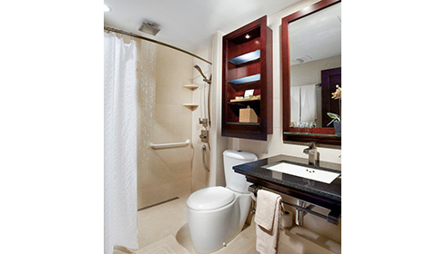 Showing slide 3 of 3 in image gallery, Deluxe Ocean View bathroom