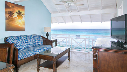 One Bedroom Oceanfront Suite - Living Area