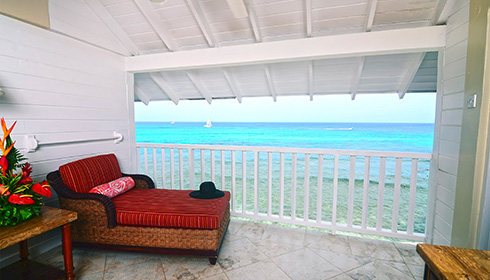 One Bedroom Oceanfront Suite Balcony