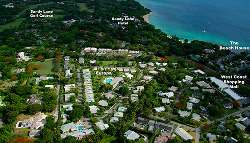 Showing slide 1 of 15 in image gallery, Resort aerial view