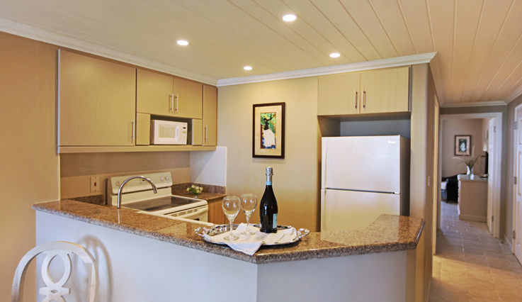 Showing slide 2 of 4 in image gallery, Deluxe One Bedroom Suite - Kitchen