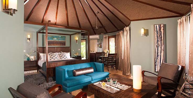 Showing slide 1 of 3 in image gallery showcasing South seas Royal rondaval butler suite w/private pool sanctuary (RPP)