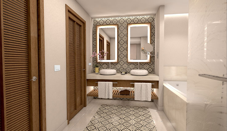 Showing slide 3 of 3 in image gallery, Coral Junior Suite - bathroom