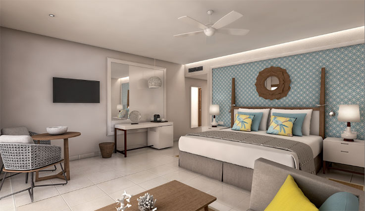 Showing slide 1 of 3 in image gallery, Coral Level Junior Suite - King