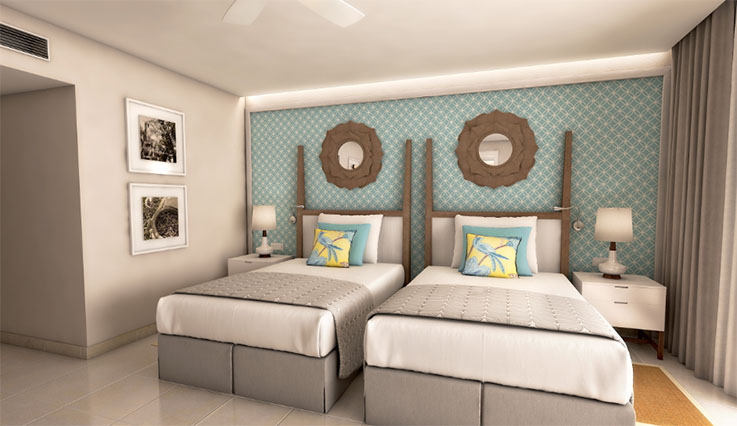 Showing slide 2 of 3 in image gallery, Coral Level Junior Suite - Twin