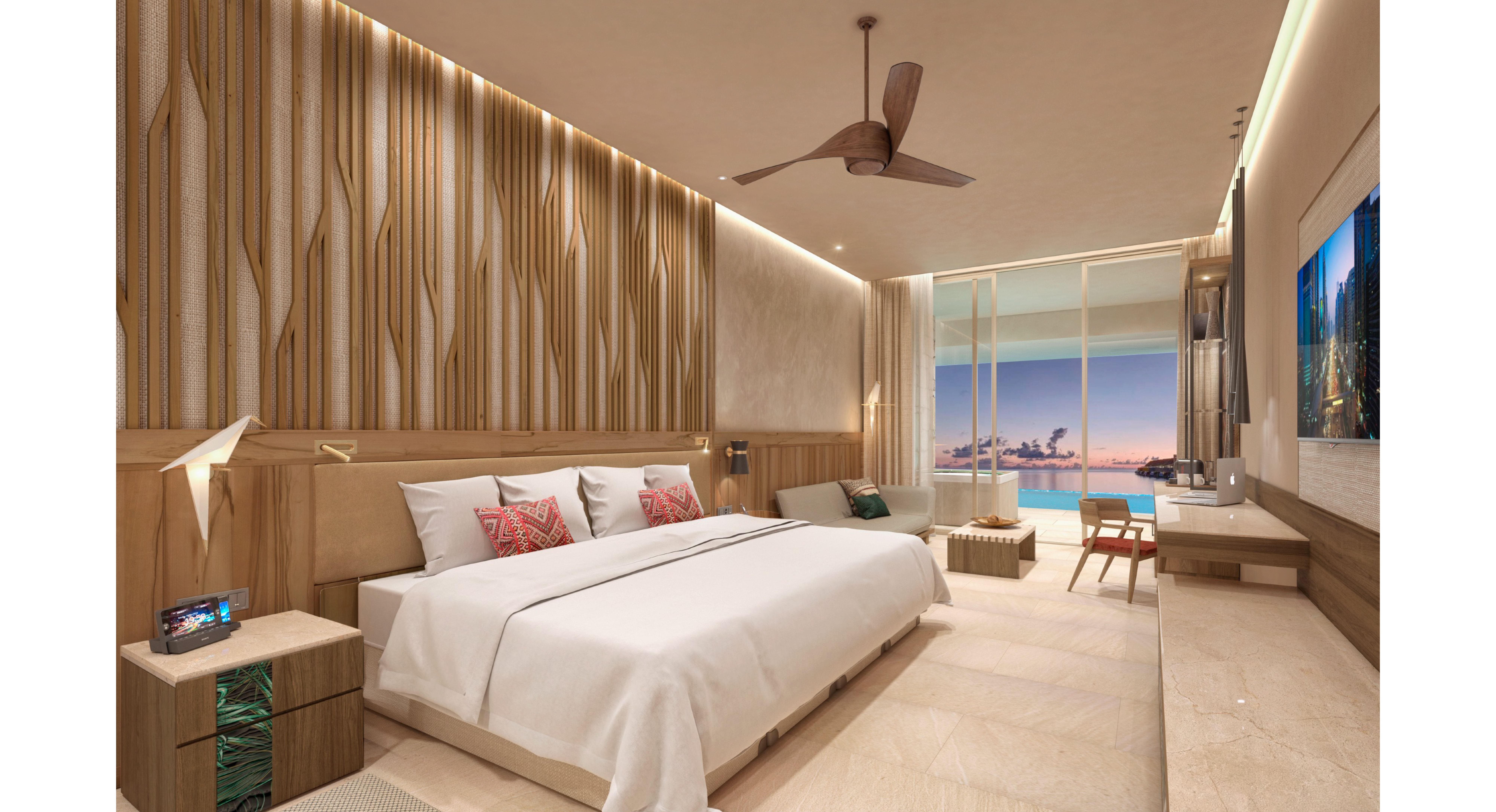 Showing slide 2 of 4 in image gallery showcasing Junior Suite Ocean Front Premium Level