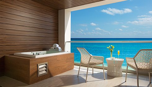 Showing slide 3 of 4 in image gallery showcasing Xhale Club Junior Suite Ocean View