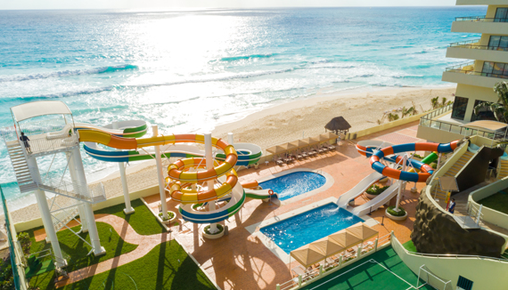 Showing slide 2 of 14 in image gallery for Crown Paradise Club Cancun
