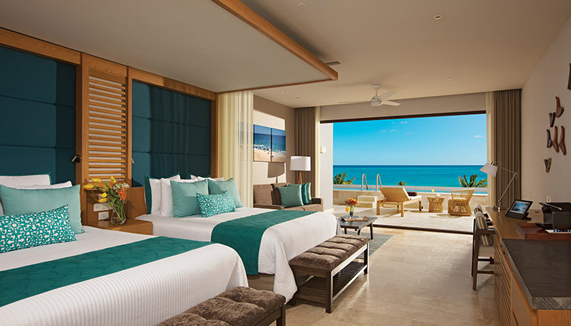Showing slide 2 of 3 in image gallery showcasing Preferred Junior Suite Swim Out Ocean View