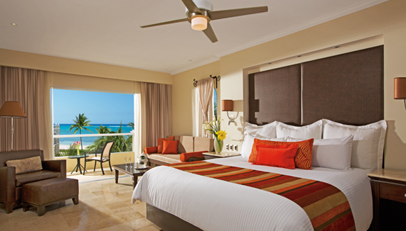 Showing slide 1 of 4 in image gallery showcasing Deluxe Ocean View Room