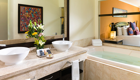 Showing slide 2 of 2 in image gallery, Luxury Jr. Suite bathroom