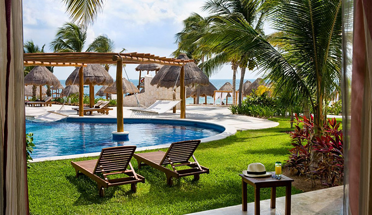 Image showcasing Excellence Club Junior Suite Swim-Up Pool View
