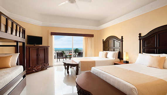 Showing slide 1 of 3 in image gallery showcasing Family Junior Suite Oceanfront