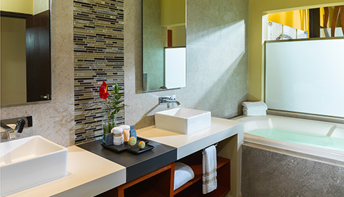 Showing slide 3 of 4 in image gallery, Oceanfront 1 Bedroom Suite bathroom