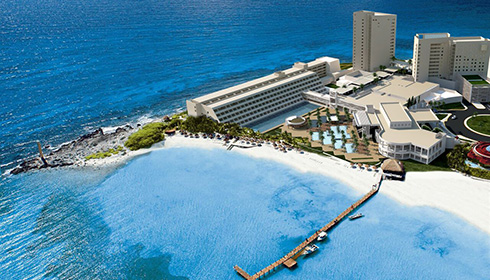 Hyatt Ziva Cancun Aerial View