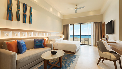 Showing slide 1 of 2 in image gallery showcasing Ocean Front Pyramid Suite