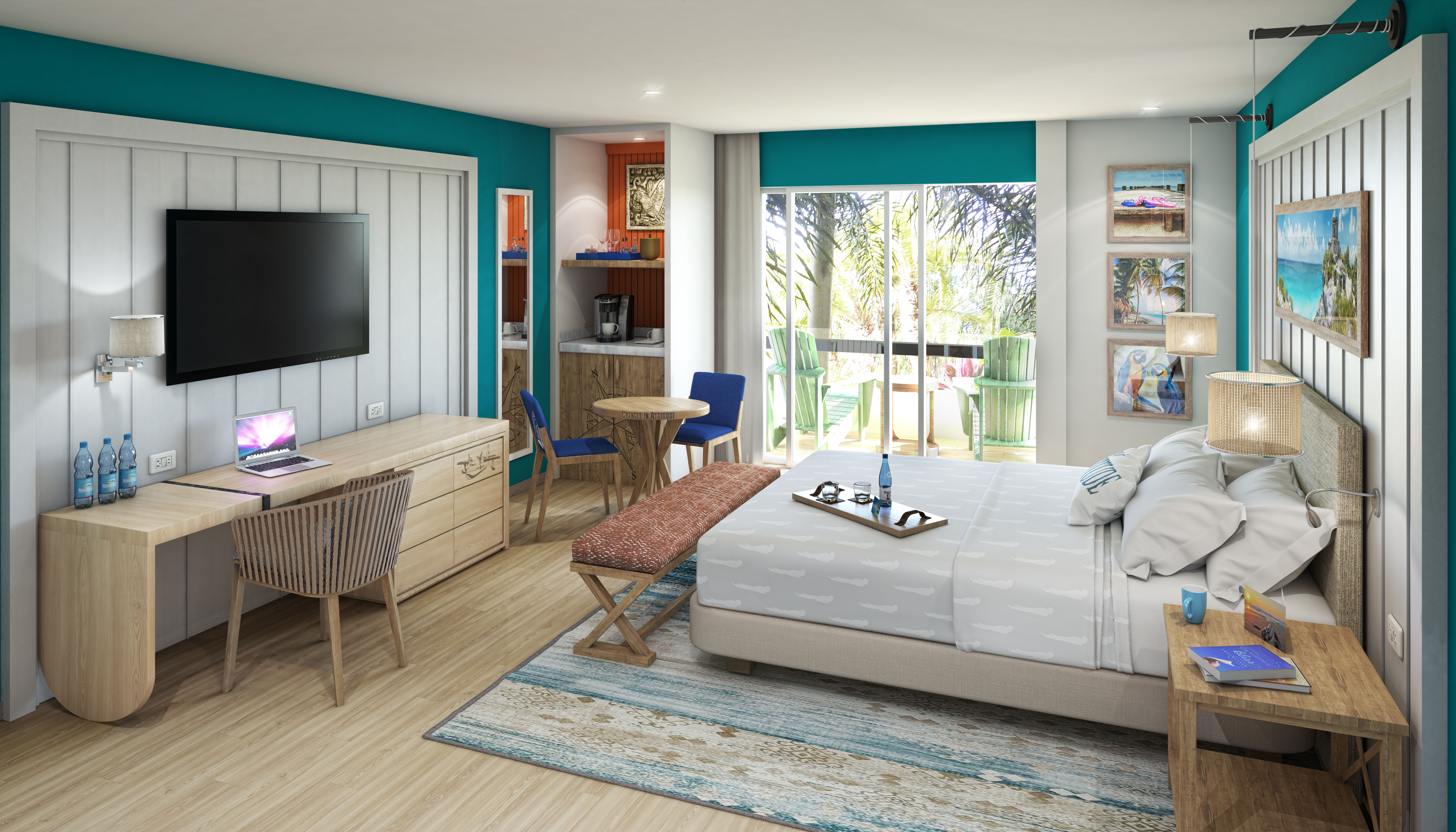 Showing slide 1 of 3 in image gallery, Paradise Junior Suite - artist rendering