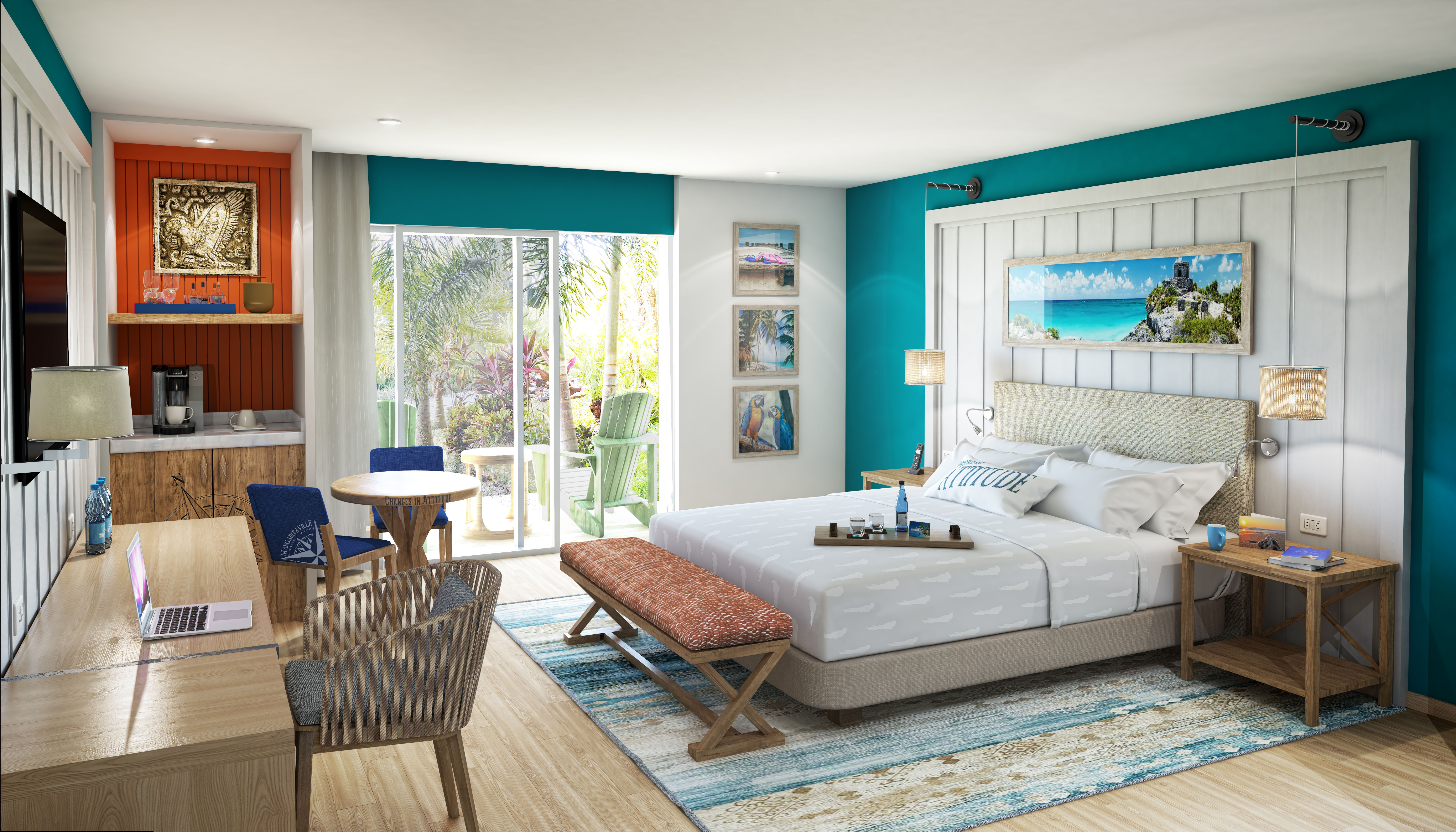 Showing slide 2 of 3 in image gallery, Paradise Junior Suite - artist rendering