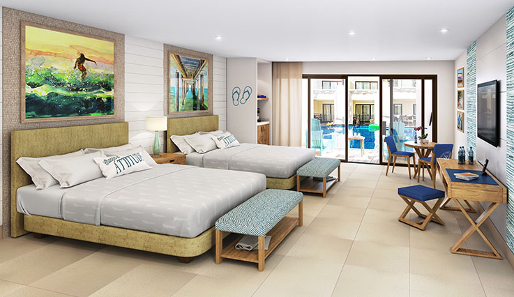 Swim Up Paradise Junior Suite - artist rendering
