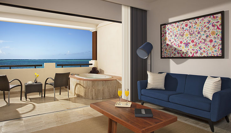Showing slide 2 of 2 in image gallery showcasing Preferred Club Junior Suite Ocean Front