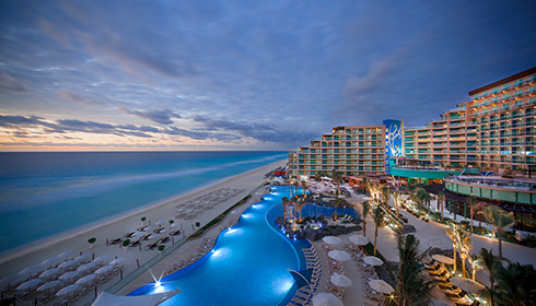 Showing slide 1 of 6 in image gallery for Hard Rock Hotel Cancun