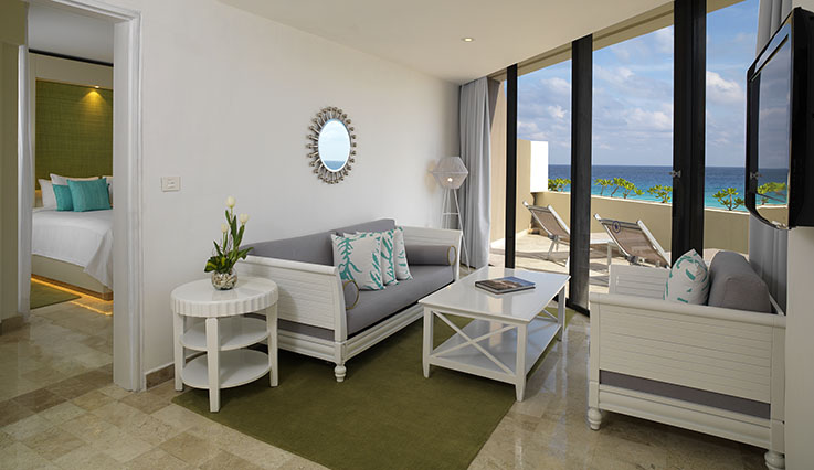 Showing slide 1 of 3 in image gallery, he Reserve One Bedroom Deluxe Ocean View Suite