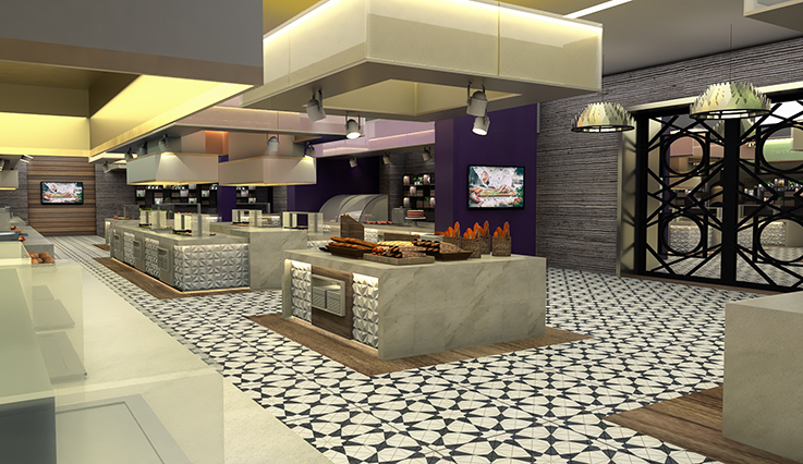 Food court - artist rendering