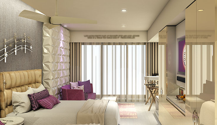Showing slide 2 of 2 in image gallery, Junior Suite - render