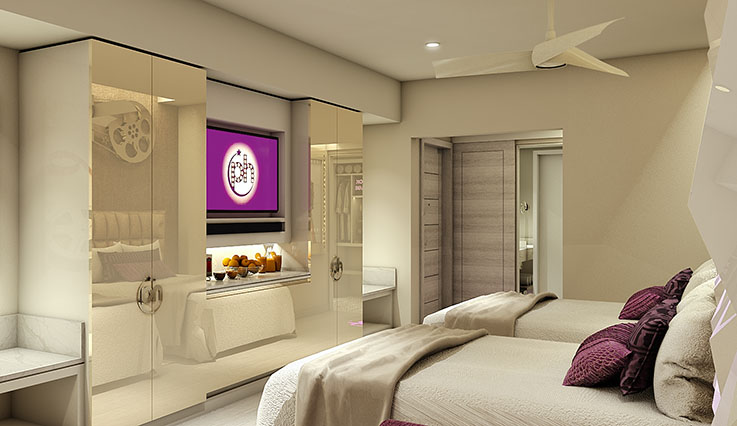 Showing slide 1 of 2 in image gallery, Junior Suite - artist rendering