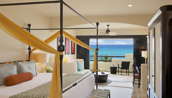 Showing slide 1 of 3 in image gallery showcasing Preferred Club Junior Suite Ocean Front