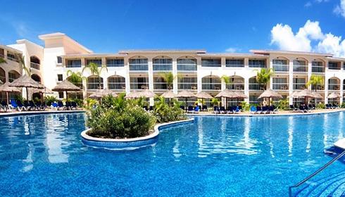 Showing Sandos Playacar Beach Resort Feature Image Pool