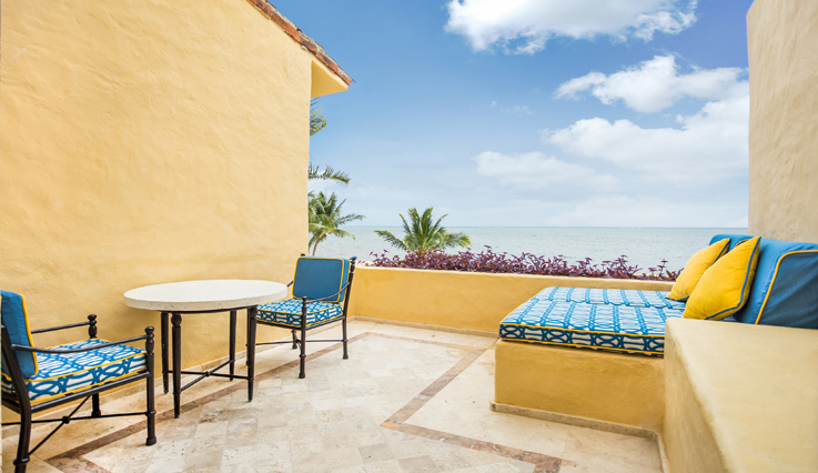 Showing slide 3 of 4 in image gallery, Romance Ocean Front 1 Bedroom Suite with Terrace - Terrace