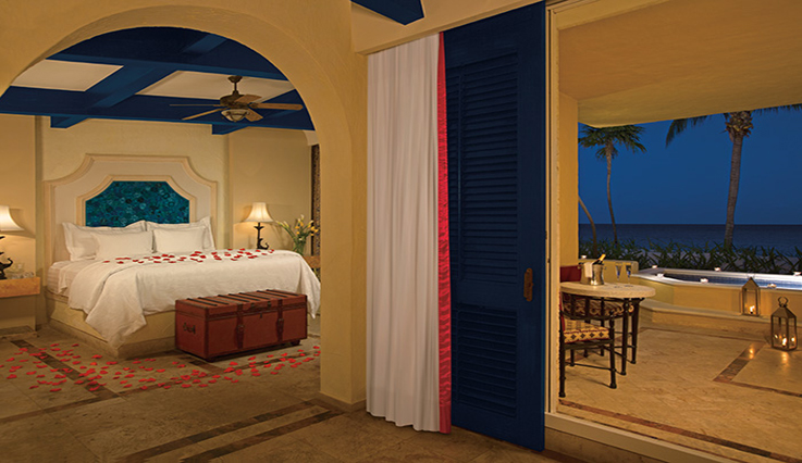 Showing slide 2 of 6 in image gallery, Romance Ocean Front 1 Bedroom Suite with Plunge Pool