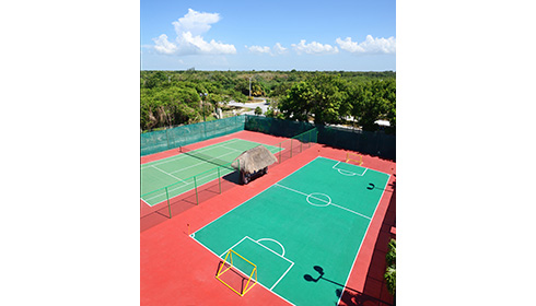 Tennis and Football Courts
