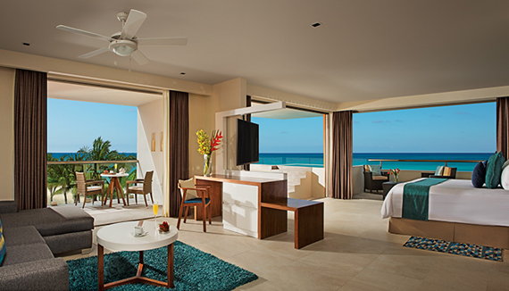 Showing slide 1 of 2 in image gallery showcasing Preferred Club Rooftop Ocean Front Suite with Plunge Pool