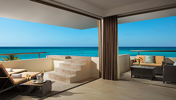 Showing slide 2 of 2 in image gallery, Preferred Club Rooftop Ocean Front Suite with Plunge Pool